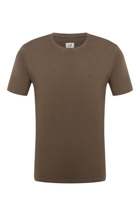 Мужская хлопковая футболка C.P. COMPANY хаки цвета, арт. 09CMTS024A-005100W | Фото 1