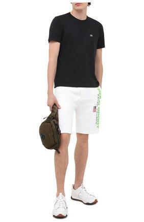 Мужская хлопковая футболка C.P. COMPANY черного цвета, арт. 09CMTS024A-005100W | Фото 2