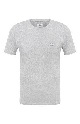 Мужская хлопковая футболка C.P. COMPANY серого цвета, арт. 09CMTS024A-005100W | Фото 1