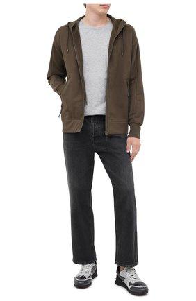 Мужская хлопковая футболка C.P. COMPANY серого цвета, арт. 09CMTS024A-005100W | Фото 2