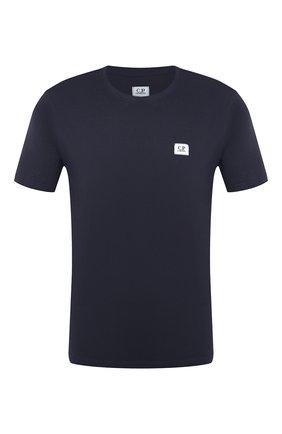 Мужская хлопковая футболка C.P. COMPANY темно-синего цвета, арт. 09CMTS026A-005100W | Фото 1