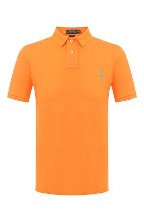Мужское хлопковое поло POLO RALPH LAUREN оранжевого цвета, арт. 710536856 | Фото 1