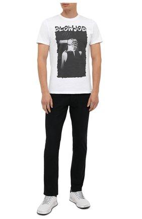 Мужская хлопковая футболка BISIBIGLIO белого цвета, арт. BL0W J0B/PESANTE | Фото 2