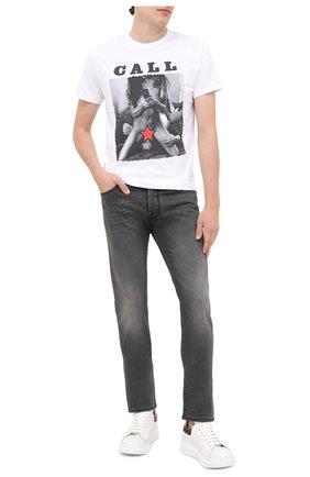 Мужская хлопковая футболка BISIBIGLIO белого цвета, арт. CALL PUSSY/PESANTE | Фото 2