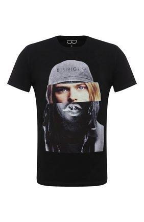 Мужская хлопковая футболка BISIBIGLIO черного цвета, арт. D0UB FACE C0UBAIN/PESANTE | Фото 1