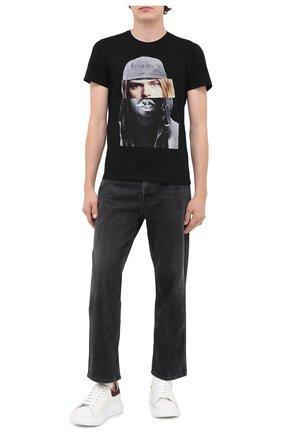 Мужская хлопковая футболка BISIBIGLIO черного цвета, арт. D0UB FACE C0UBAIN/PESANTE | Фото 2
