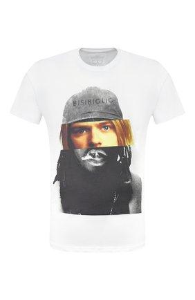 Мужская хлопковая футболка BISIBIGLIO белого цвета, арт. D0UB FACE C0UBAIN/PESANTE | Фото 1