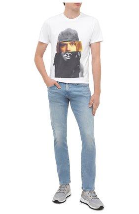 Мужская хлопковая футболка BISIBIGLIO белого цвета, арт. D0UB FACE C0UBAIN/PESANTE | Фото 2