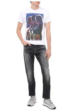 Мужская хлопковая футболка BISIBIGLIO белого цвета, арт. GIRL SEXY HER/PESANTE | Фото 2