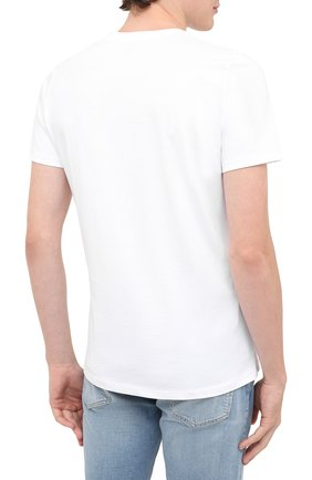 Мужская хлопковая футболка BISIBIGLIO белого цвета, арт. KATE 0MG/PESANTE | Фото 4