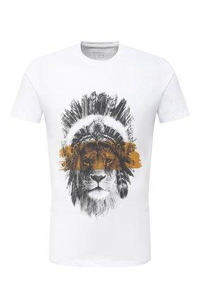 Мужская хлопковая футболка BISIBIGLIO белого цвета, арт. LI0N MASK/PESANTE | Фото 1