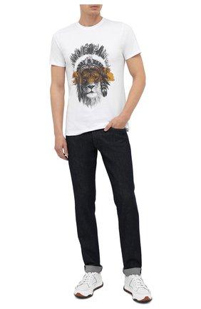 Мужская хлопковая футболка BISIBIGLIO белого цвета, арт. LI0N MASK/PESANTE | Фото 2