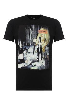 Мужская хлопковая футболка BISIBIGLIO черного цвета, арт. LIFE STR0NG/PESANTE | Фото 1