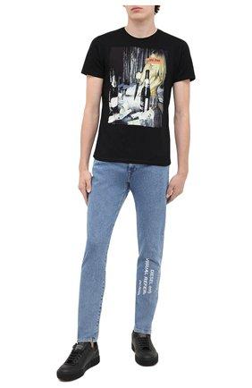 Мужская хлопковая футболка BISIBIGLIO черного цвета, арт. LIFE STR0NG/PESANTE | Фото 2