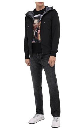 Мужская хлопковая футболка BISIBIGLIO черного цвета, арт. LU ARTE/PESANTE | Фото 2