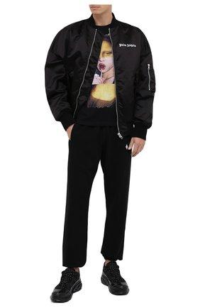 Мужская хлопковая футболка BISIBIGLIO черного цвета, арт. M0NNA CHUPA/PESANTE | Фото 2