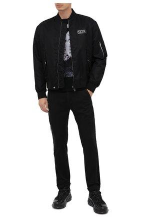 Мужская хлопковая футболка BISIBIGLIO черного цвета, арт. MARL0N BRAN/PESANTE | Фото 2