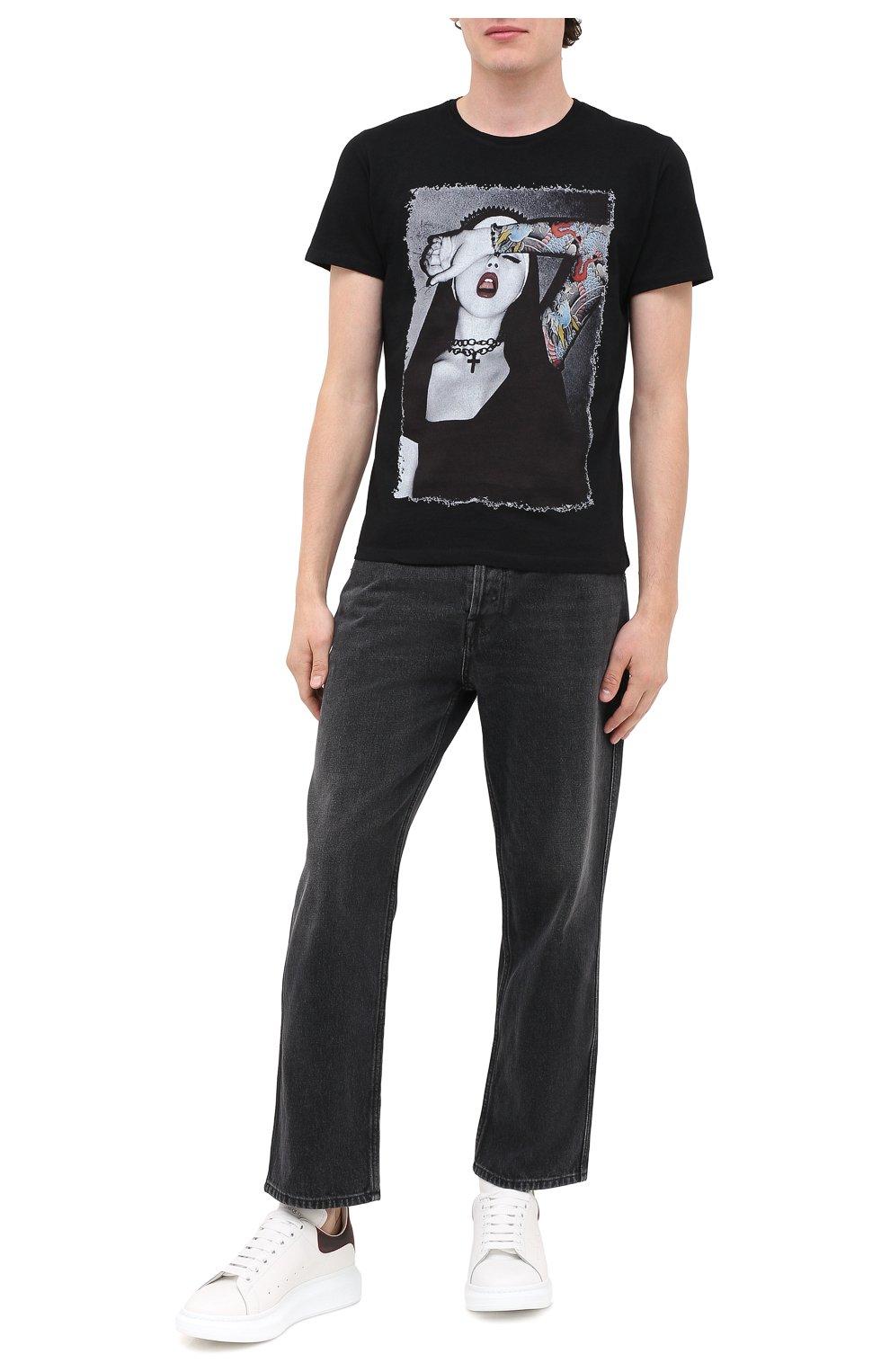 Мужская хлопковая футболка BISIBIGLIO черного цвета, арт. NUN TATT00/PESANTE   Фото 2