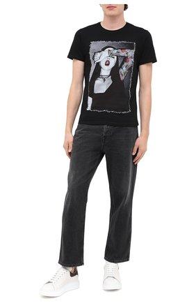 Мужская хлопковая футболка BISIBIGLIO черного цвета, арт. NUN TATT00/PESANTE | Фото 2