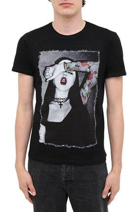 Мужская хлопковая футболка BISIBIGLIO черного цвета, арт. NUN TATT00/PESANTE   Фото 3