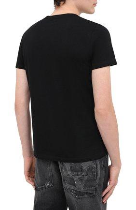 Мужская хлопковая футболка BISIBIGLIO черного цвета, арт. NUN TATT00/PESANTE   Фото 4