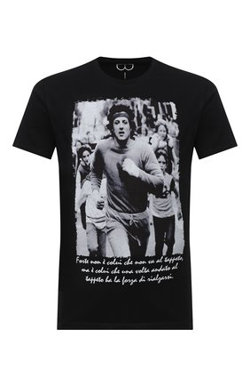 Мужская хлопковая футболка BISIBIGLIO черного цвета, арт. R0CKY/PESANTE | Фото 1