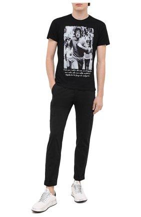 Мужская хлопковая футболка BISIBIGLIO черного цвета, арт. R0CKY/PESANTE | Фото 2
