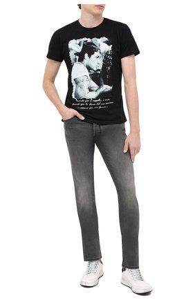 Мужская хлопковая футболка BISIBIGLIO черного цвета, арт. STALL0NE BRACCI0/PESANTE | Фото 2