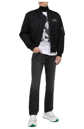 Мужская хлопковая футболка BISIBIGLIO белого цвета, арт. STALL0NE BRACCI0/PESANTE | Фото 2