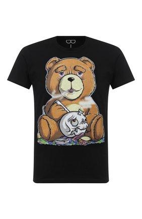 Мужская хлопковая футболка BISIBIGLIO черного цвета, арт. TEDDY SM0KE/PESANTE | Фото 1