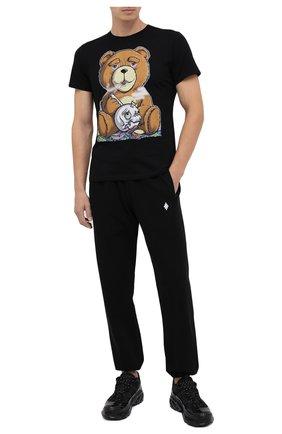 Мужская хлопковая футболка BISIBIGLIO черного цвета, арт. TEDDY SM0KE/PESANTE | Фото 2