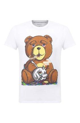 Мужская хлопковая футболка BISIBIGLIO белого цвета, арт. TEDDY SM0KE/PESANTE | Фото 1