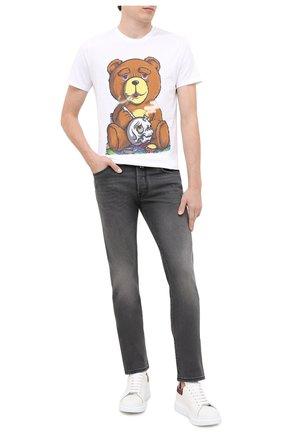 Мужская хлопковая футболка BISIBIGLIO белого цвета, арт. TEDDY SM0KE/PESANTE | Фото 2