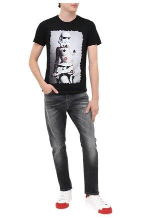 Мужская хлопковая футболка BISIBIGLIO черного цвета, арт. WARS T0PLESS/PESANTE | Фото 2