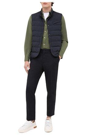 Мужская хлопковая рубашка POLO RALPH LAUREN зеленого цвета, арт. 710794604 | Фото 2