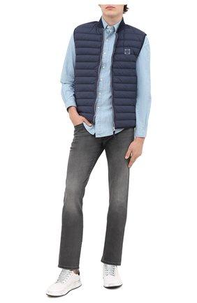 Мужская хлопковая рубашка POLO RALPH LAUREN голубого цвета, арт. 710795458 | Фото 2