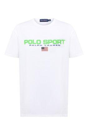 Мужская хлопковая футболка POLO RALPH LAUREN белого цвета, арт. 710800906 | Фото 1