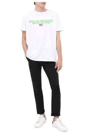Мужская хлопковая футболка POLO RALPH LAUREN белого цвета, арт. 710800906 | Фото 2