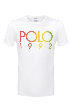 Мужская хлопковая футболка POLO RALPH LAUREN белого цвета, арт. 710803496 | Фото 1
