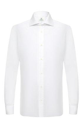 Мужская хлопковая сорочка LUIGI BORRELLI белого цвета, арт. DR08/LUCIAN0/TS30035   Фото 1