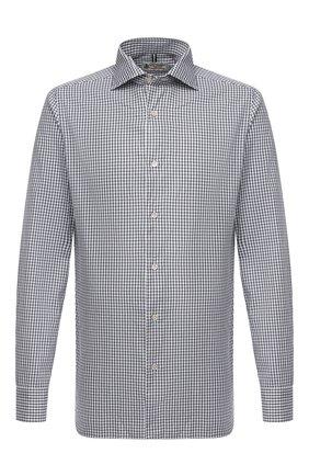 Мужская хлопковая рубашка LUIGI BORRELLI серого цвета, арт. EV08/NAND0/TS30131   Фото 1