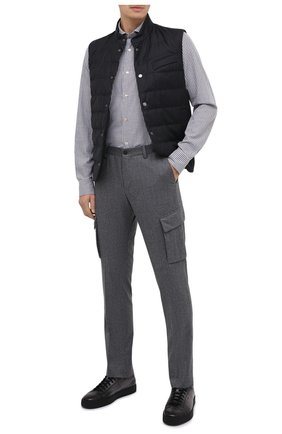 Мужская хлопковая рубашка LUIGI BORRELLI серого цвета, арт. EV08/NAND0/TS30131   Фото 2
