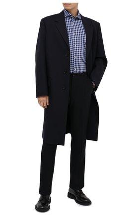 Мужская хлопковая рубашка LUIGI BORRELLI синего цвета, арт. EV08/NAND0/TS30132 | Фото 2