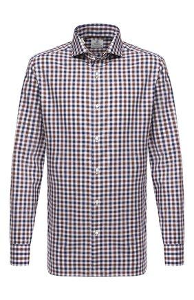 Мужская хлопковая рубашка LUIGI BORRELLI коричневого цвета, арт. EV08/FELICE/TS30368   Фото 1
