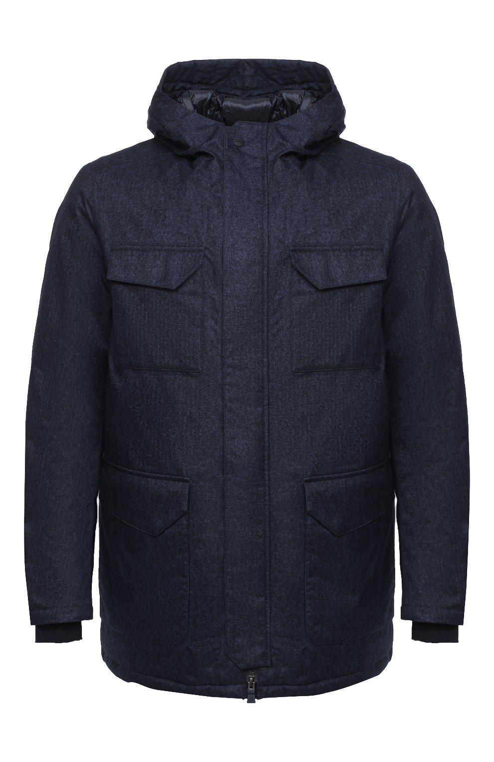 Мужская пуховая куртка HERNO синего цвета, арт. PI161UL/12393 | Фото 1