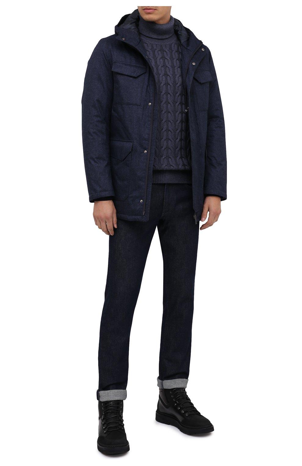 Мужская пуховая куртка HERNO синего цвета, арт. PI161UL/12393 | Фото 2