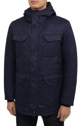 Мужская пуховая куртка HERNO синего цвета, арт. PI161UL/12393 | Фото 3