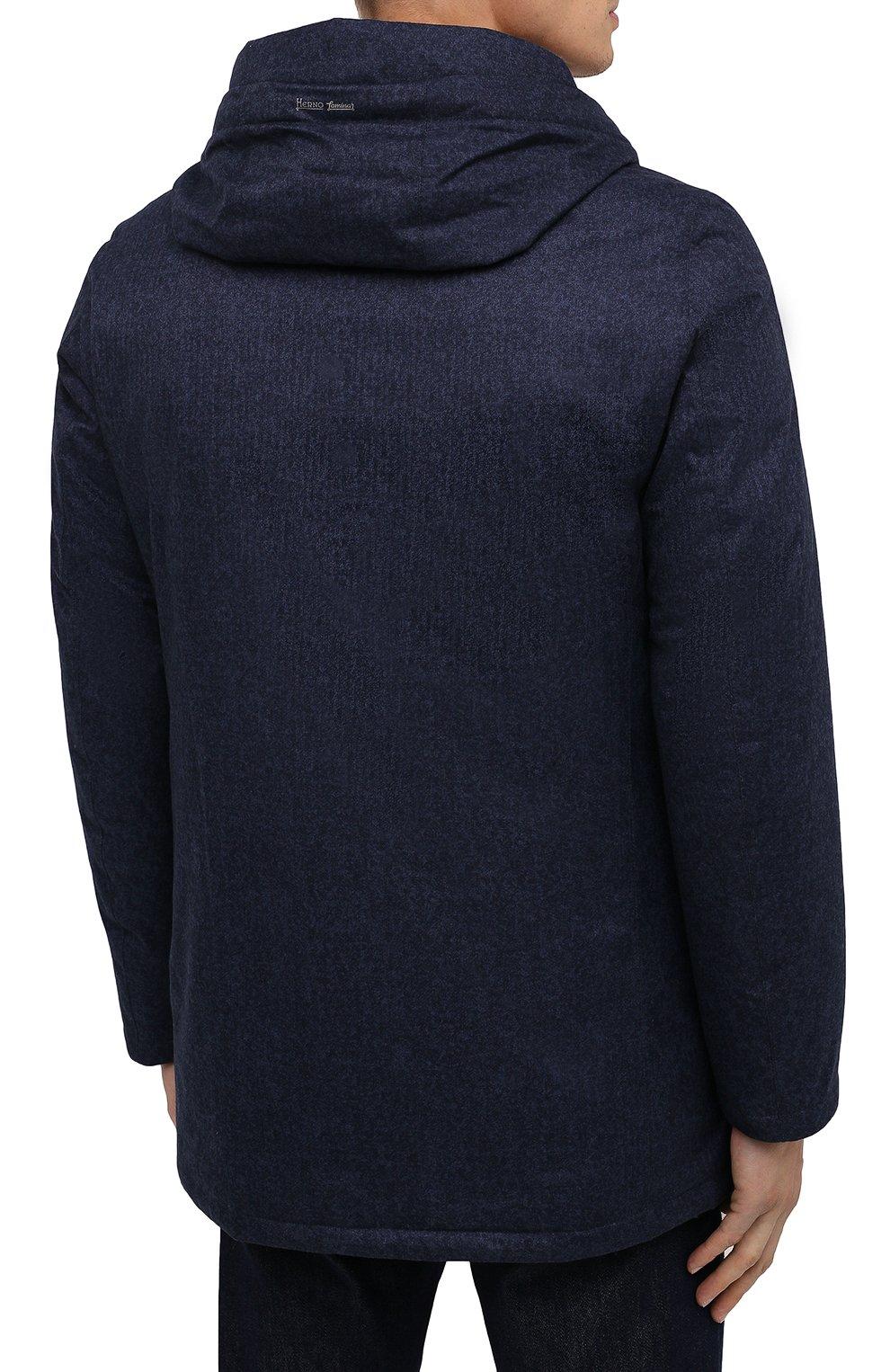 Мужская пуховая куртка HERNO синего цвета, арт. PI161UL/12393 | Фото 4