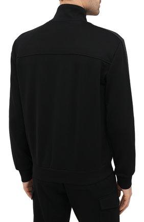 Мужской толстовка ZEGNA COUTURE черного цвета, арт. CVCJ02/8VJ37   Фото 4 (Рукава: Длинные; Мужское Кросс-КТ: Толстовка-одежда; Длина (для топов): Стандартные; Материал внешний: Хлопок; Стили: Кэжуэл)