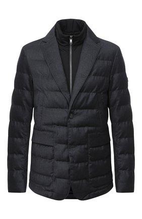 Мужская утепленная куртка Z ZEGNA серого цвета, арт. VV032/ZZ014 | Фото 1